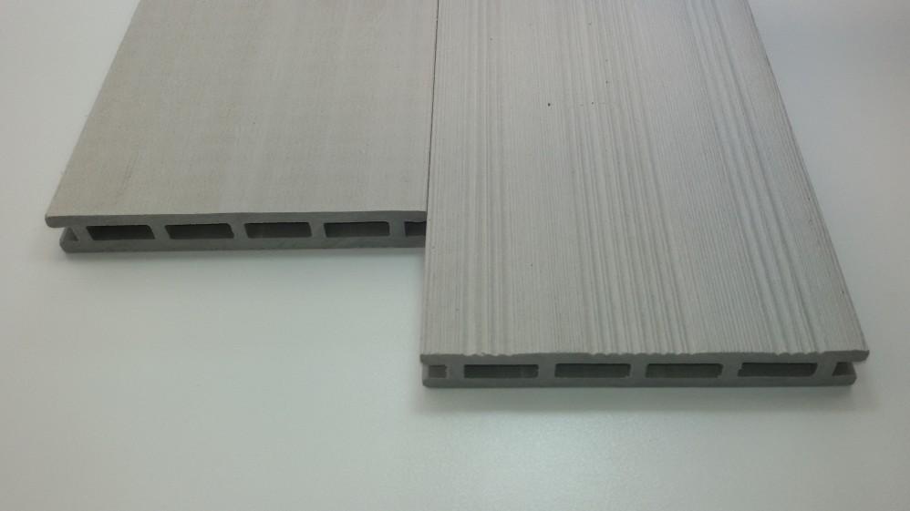 WPC-Diele 2,1 x 14,5 x360 hellgrau Franz.Profil / gebürstet