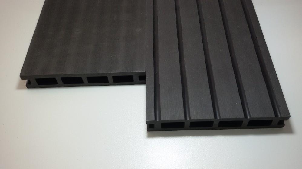 WPC-Diele 2,5 x 14,5 x 400 cm anthrazit grob genutet / gebürstet
