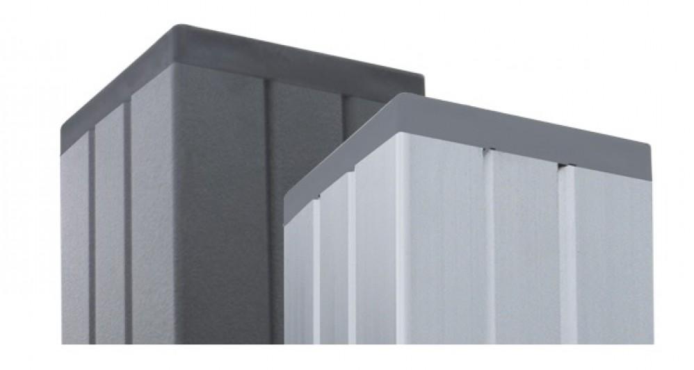 Aluminium Pfosten 6,8 x 6,8 cm Alufarben zu Serie
