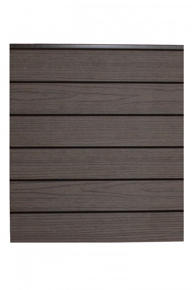 WPC-Wandverkleidung, Holz-Look dunkelbraun 5,8 m