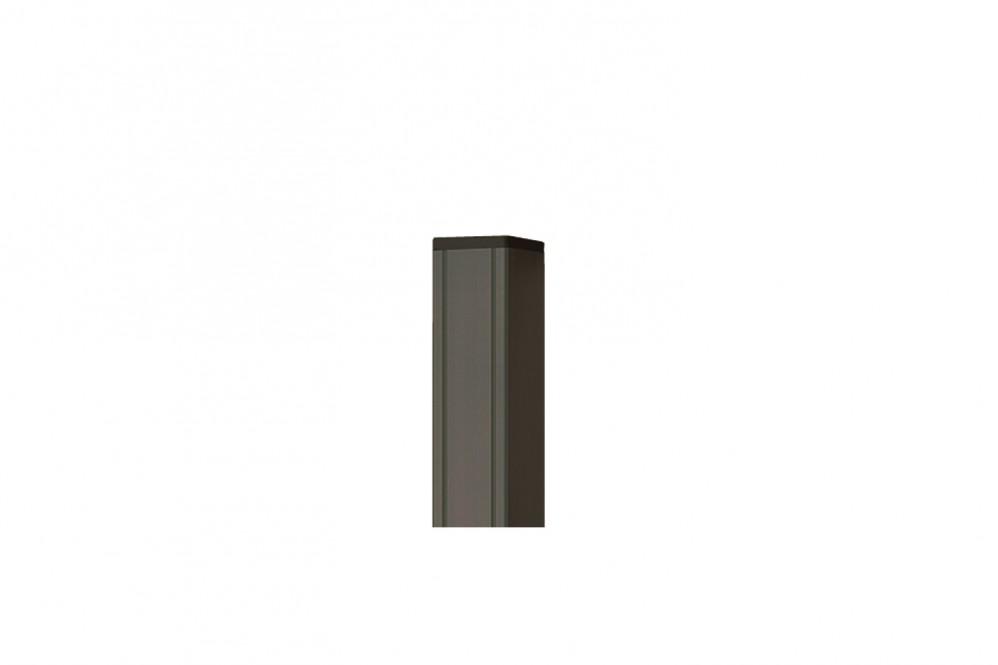 Aluminium Pfosten mit Holzkern anthrazit pulverbeschichtet 6,8 x 6,8 x 272 cm