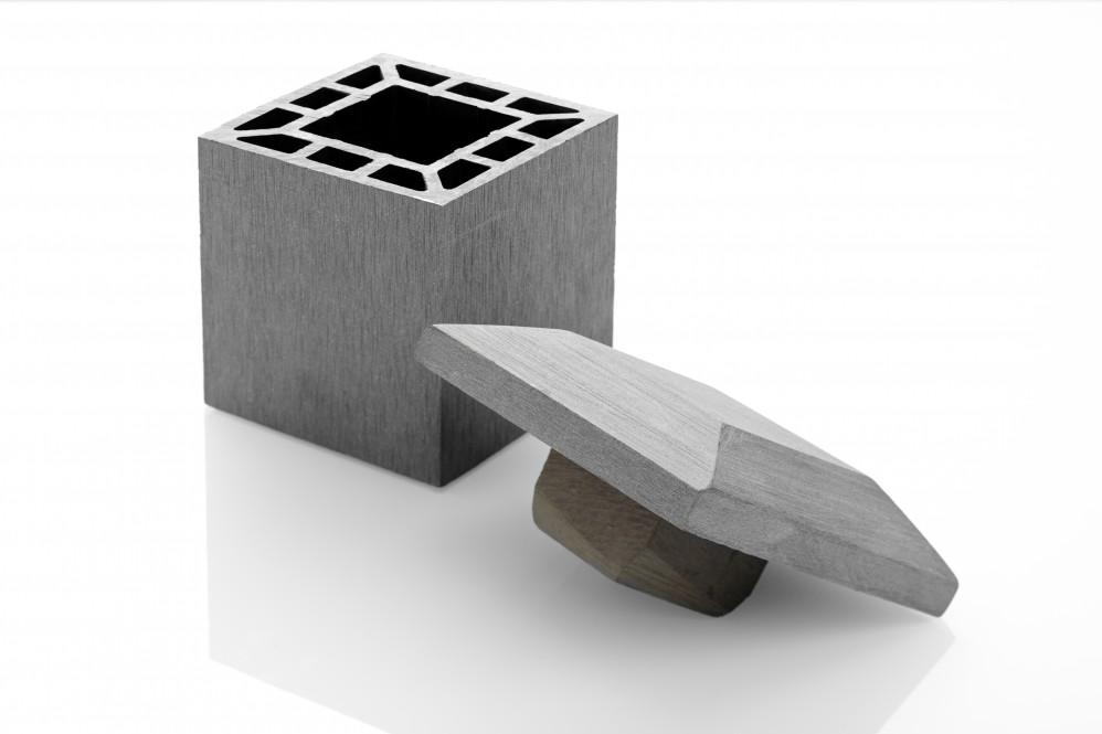 WPC-Abdeckkappe für Pfosten grau