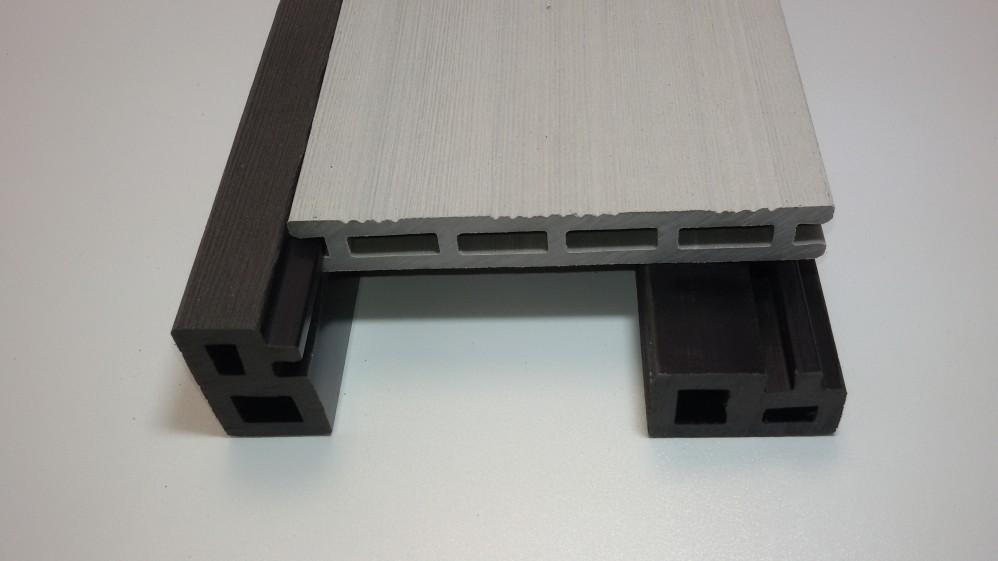 Unterkonstruktion / Abdeckleisten 3 x 5 x 225 cm hellgrau