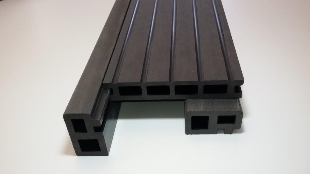 Unterkonstruktion / Abdeckleisten 3,5 x 6 x 410 cm anthrazit