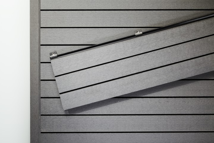 wpc wandverkleidung grau gerade 5 8m zubeh r jekawood. Black Bedroom Furniture Sets. Home Design Ideas