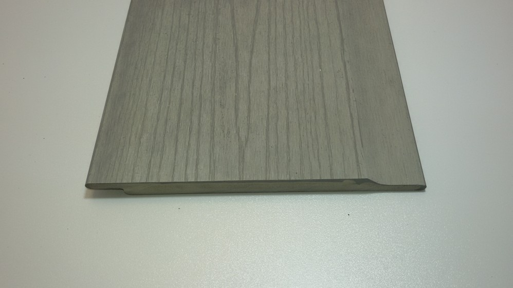 WPC Fassadenbekleidung 1,2 x 16,4 cm Hellgrau